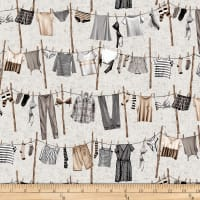 Studio E Loads Of Fun Washing Line Grey/Taupe
