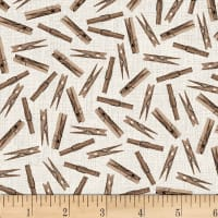 Studio E Loads Of Fun Clothes Pegs Taupe