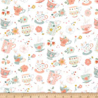 Woodland Tea Time Tossed Teacup White
