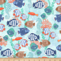 Coastal Dreams Fish Allover Blue