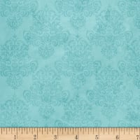 Coastal Dreams Tonal Damask Aqua