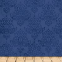 Coastal Dreams Tonal Damask Navy