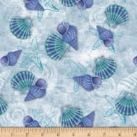 Coastal Dreams Shells Allover Blue