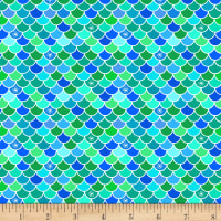 Mermaid Rock Scallop Texture Turquoise