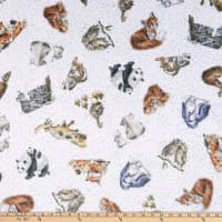 Maywood Studio Love Is Minky Tossed Animals White
