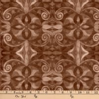 "Baroque Digital 108"" Quilt Backing Brown"