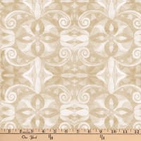 "Baroque Digital 108"" Quilt Backing Ivory"
