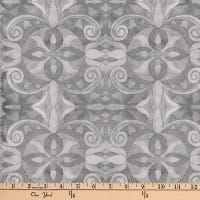 "Baroque Digital 108"" Quilt Backing Medium Gray"