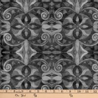 "Baroque Digital 108"" Quilt Backing Gray"