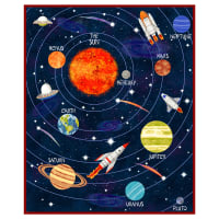 """Lost In Space 36"""" Panel Black"""
