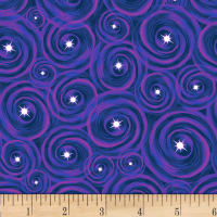 Lost In Space Swirls With Stars Purple