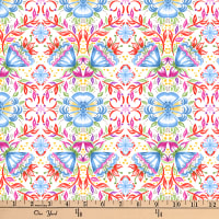 Gypsy Dreams Floral Tile White