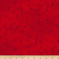 P&B Textiles Bella Suede Wide Scroll Red