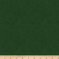 P&B Textiles Bella Suede Wide Medallion Dark Green