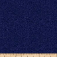 P&B Textiles Bella Suede Wide Medallion Navy