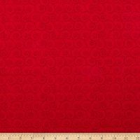 P&B Textiles Basically Hugs Scroll Red