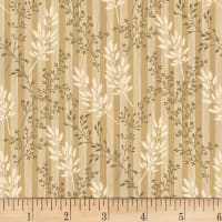 Washington Street Studio Wild Flower Ferns Ecru/Brown