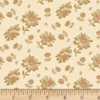 Washington Street Studio Wild Flower Tossed Floral Ecru