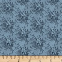 "P&B Textiles/Washington Street Studio 108"" Wide Back Historical Quilt Backs Tossed Floral Blue"