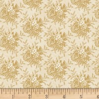"P&B Textiles/Washington Street Studio 108"" Wide Back Historical Quilt Backs Tossed Floral Ecru"