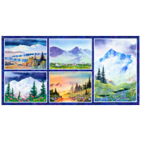"P&B Textiles Majestic Mountains Mountain 22"" Panel Multi"