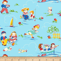 P&B Textiles/Washington Street Studio Playtime Blue