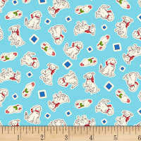 P&B Textiles/Washington Street Studio Playtime Puppies Blue