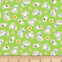 P&B Textiles/Washington Street Studio Playtime Puppies Green