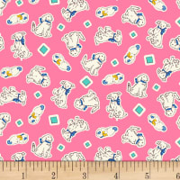 P&B Textiles/Washington Street Studio Playtime Puppies Pink