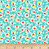 P&B Textiles/Washington Street Studio Playtime Floral Blue Teal