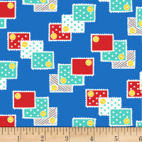 P&B Textiles/Washington Street Studio Playtime Stamps Dark Blue