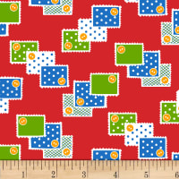P&B Textiles/Washington Street Studio Playtime Stamps Red