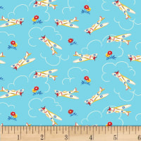 P&B Textiles/Washington Street Studio Playtime Airplane Blue