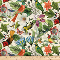 Secret Escape Large Floral and Birds Cream