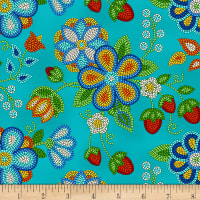Tucson Beaded Strawberry Turquoise