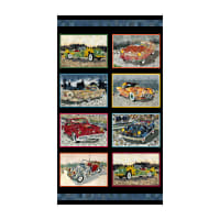 "QT Fabrics Digital Artworks XIII Car Patches 24"" Panel Multi"