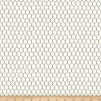 QT Fabrics Digital Count Your Chickens Chicken Wire Cream