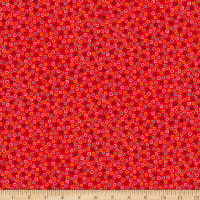 QT Fabrics Digital Count Your Chickens Dots Red