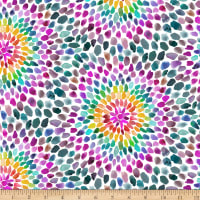 QT Fabrics Digital In The Groove Starburst Multi