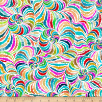 QT Fabrics Digital In The Groove Swirl Multi