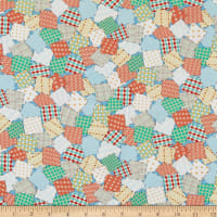 QT Fabrics Digital Animal Parade Patchwork Baby Blue