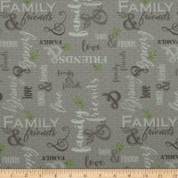 QT Fabrics Digital Circle Of Friends Family & Friends Gray
