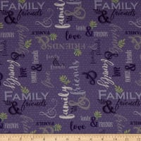 QT Fabrics Digital Circle Of Friends Family & Friends Violet