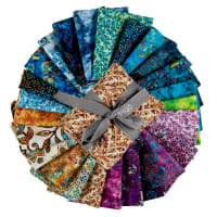 "QT Fabrics Kashmir 18"" Fat Quarter Bundle Multi 25 pcs"