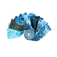 "QT Fabrics Kashmir 2 1/2"" Strip Roll Blue 12 pcs"