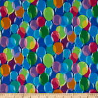 QT Fabrics Digital Pop Culture Balloons Royal