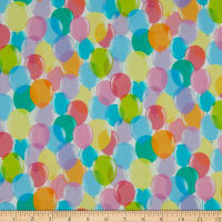 QT Fabrics Digital Pop Culture Balloons White