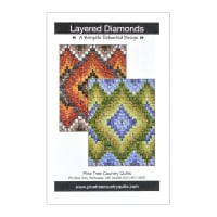 "QT Fabrics Botanica Layered Diamonds Quilt Kit 42"" x 56"""