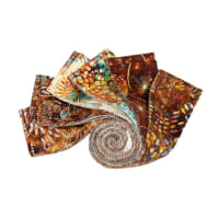 "QT Fabrics Batik Botanica 2.5"" Strips 12 pcs Brown"