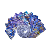 "QT Fabrics Botanica 2.5"" Strips 12 pc Blue"